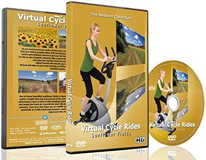 Virtual Cycle Rides DVD Sunflower Fields for Indoor Cycling Treadmill and Running Workouts product image