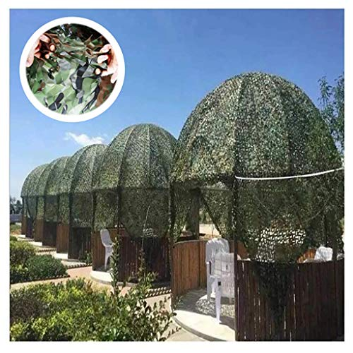 Qjifangzyp 2x3M Camouflage Hunting Net, Green Camo Reinforcement Net Patio Umbrella Side Wall Sun Shade Nets Oxford Camouflage Netting For Camping Military Shooting Hide (Size : 3 * 4M(9.8 * 13.1ft))