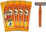 BIC 3 Sensitive Rasoirs Jetables pour Homme (3 Lames) - Lot de 4 Pochettes de 4
