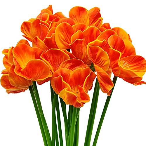 Aisamco 20 Piezas de Amapolas Artificiales de imitación de Flores de PU Ramo de Boda de 33 cm de Altura para el hogar, Cocina, Comedor, centros de Mesa, decoración de Boda