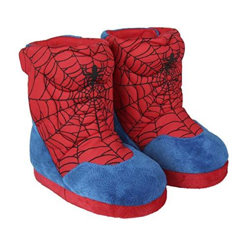 Cerdá Jungen Zapatillas de Casa Bota Spiderman Hausschuhe, Rot (Rojo C06), 31/32 EU
