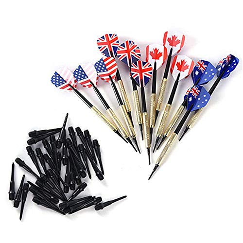 Buy hfeng Soft Darts Set 12pcs Plastic Soft Tip with 36 Extra Tips 4 Kind Nice Professional Safe Sho...