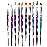 [page_title]-Mwoot 10 Teilig Nagel Pinsel Set, Nagel Kunst Malerei Zeichnung Pinsel Pen für UV-Gel und Acrylfingernägel, nailart Liner Pinsel, Nagelzubehör design Pediküre Maniküre