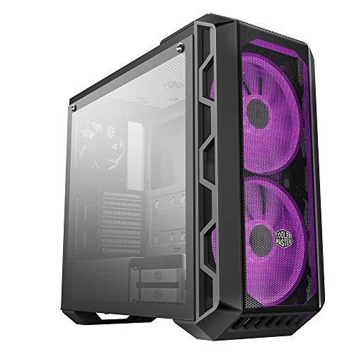 Cooler Master MasterCase H500 - Caja PC RGB con Dos Ventiladores 200mm para Potente Flujo de Aire, Paneles Chasis Frontales Transparente y Mallado, Capacidad de Hardware ATX Flexible