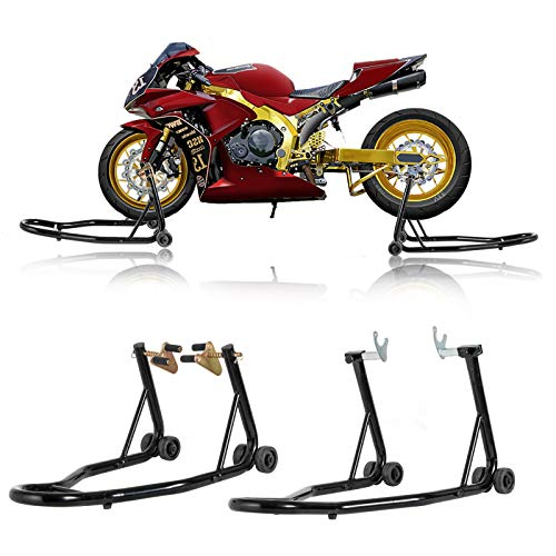 SUNCOO Sport Bike Motorcycle Wheel Stands Fork Universal Swingarm...