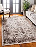 Unique Loom Rushmore Collection Traditional White Tone-on-Tone Cream Area Rug (10' 0 x 13' 0)