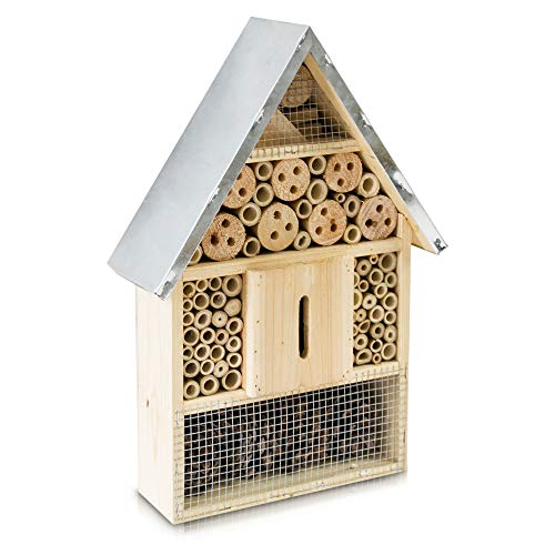 Petlicity Insect and Bee Hotel Nesting Box and Shelter for Wall Mounting in a Choice of Sizes and Styles (Large)