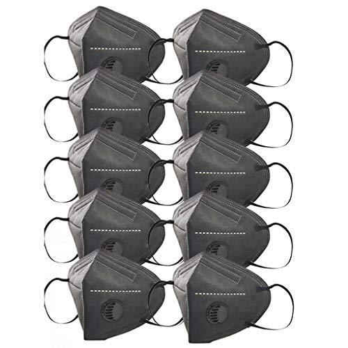 Aujelly 10 Stück Professioneller Einweg Mundschutz Erwachsene 5-lagig Atmungsaktiv Komfortabel Einweg Mund und Nasenschutz Staubdicht Mund-Nasen Bedeckung Halstuch Schals B001 (Erwachsene, Pro-F)