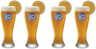Set of 4 Blue Moon Signature Wheat Beer Glasses - 16 Ounces