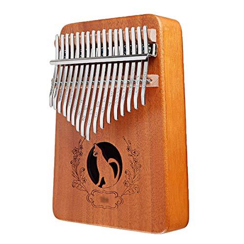 ZIEO Pocket Thumb Finger Piano17 Tasten Kalimba Daumen Klavier Afrikanisches Palisander Mahagoni Ganzes Brett Finger Klavier Finger Daumen Klavier