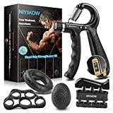 NIYIKOW Grip Strength Trainer Kit (5 Pack), Counting Grip Strength, Adjustable Hand Grip...