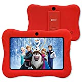 Contixo V9-3-32 7 Inch Kids Tablet, 2GB RAM 32 GB ROM, Android 10 Tablet, Educational Tablets for Kids, Parental Control Pre Installed Learning Game Apps WiFi Bluetooth Tablets for Kids, Red