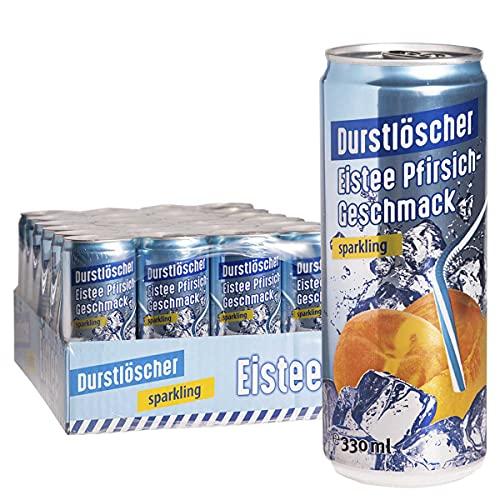WeserGold Durstlöscher Eistee Pfirsich Sparkling 12 x 0,33l - inkl. Pfand