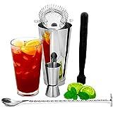 bar@drinkstuff Boston Cocktail Shaker Set mit Jigger Messen