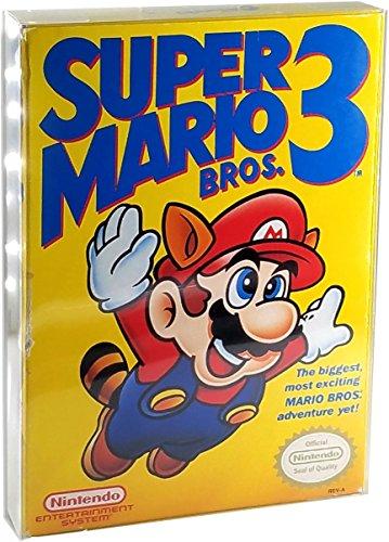Link-e : 10 X Funda protectora de plástico transparente para Nintendo NES Game Boxes