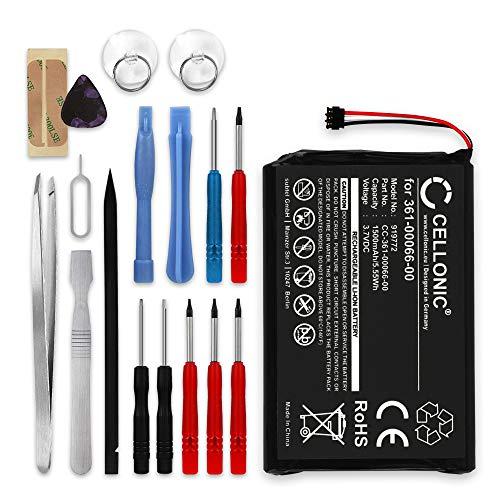 CELLONIC® Batería Compatible con Garmin Camper 760, Nüvi 2689, Nüvi 2757, Nüvi 2797, Dezl 760, Nüvi 2699, NüviCam, 361-00066-00, 361-00066-10 1500mAh + Juego de Destornilladores Pila Repuesto bateria