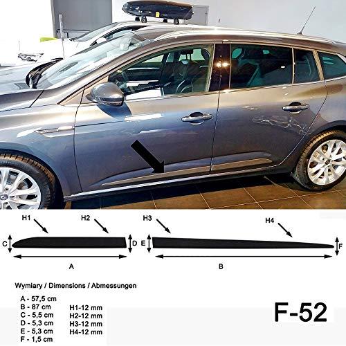 mächtig der welt Schwarzer Spangenberg-Seitenrock für Renault Megane IV Grand Tour Pickup ab April 2016 -…