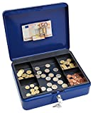 Wedo 14540 - Caja para dinero (30 x 24 x 9 cm, 5 compartimentos), color azul