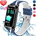 Inspiratek Kids Fitness Tracker for Girls and Boys Age 5-16 (5 Colors), Kids Activity Tracker, Fitness Watch for Kids - Fitness Tracker for Kids - Activity Tracker for Kids, Kids Step Tracker (Blue)