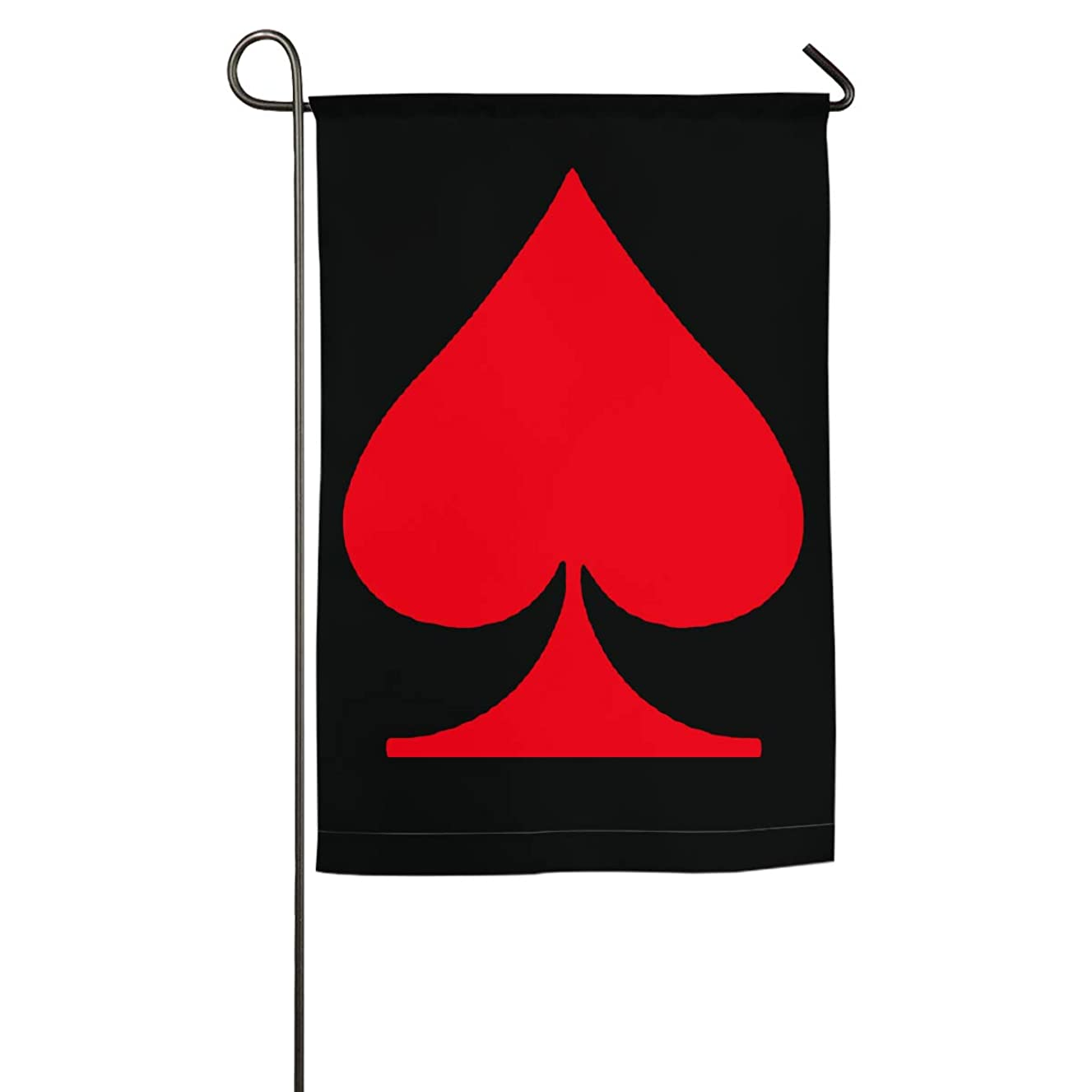 WCVDXFVVCQZ Vintage Red Spade Ace Red Poker House Home 30x45CM Garden Flag
