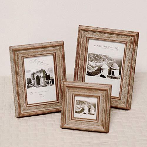 Houten kleur Geborsteld Oude Kwaliteit, Amerikaanse Houten Frame, Rustieke Landelijke stijl, Decoratie, Tafel, Foto Frame 6 inches A