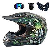 casco da motocross,per tutti i terreni,downhill,accessorio per mountain bike,ciclomotore, passeggini da montagna, sportivi, sicurezza con occhiali, guanti,gancio per casco integrale,MTB da uomo