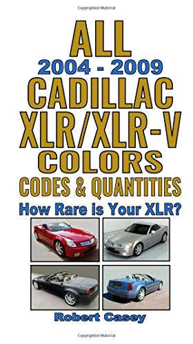 All 2004-2009 Cadillac XLR & XLR-V Colors, Codes & Quantities: How Rare is Your XLR?