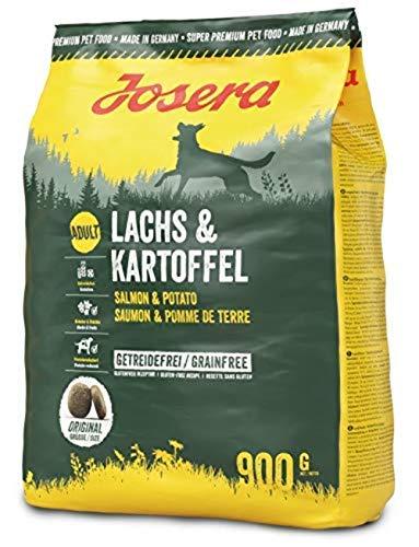 JOSERA Lachs & Kartoffel, getreidefreies Hundefutter, Lachs als einzige tierische Proteinquelle, Super Premium Trockenfutter für ausgewachsene Hunde, 1er Pack (1 x 900 g)