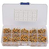 Kit de condensadores de cerámica de 500 piezas, 0V 0,1UF ~ 10UF (104~106) Conjunto de condensadores de cerámica de baja frecuencia, conjunto de componentes de condensador