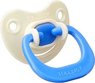 Tollyjoy Silicone Pacifier, Orthodontic Bulb, Blue Color