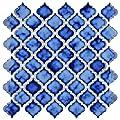 "SomerTile Hudson Tangier Sapphire 12-3/8"" x 12-1/2"" x 5 mm Porcelain Mosaic Tile (10 tiles/10.96 sqft.)"