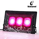 Bozily IP67 Waterproof Cob Led Grow Light,450W Full Spectrum Grow Lights Outdoor, COB Grow Light with No Noise,Natural Heat Dissipation for Seedling, Growing, Blooming and Fruiting(Gift Hooks)
