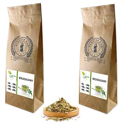 VITAIDEAL VEGAN® Wiesenknopf Kraut geschnitten (Sanguisorba) 2x200g, rein natürlich ohne Zusatzstoffe.