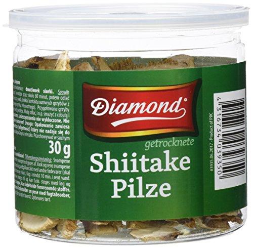 Diamond Setas Shiitake, Secas, Cortadas - Paquete de 6 x 30 gr - Total: 180 gr
