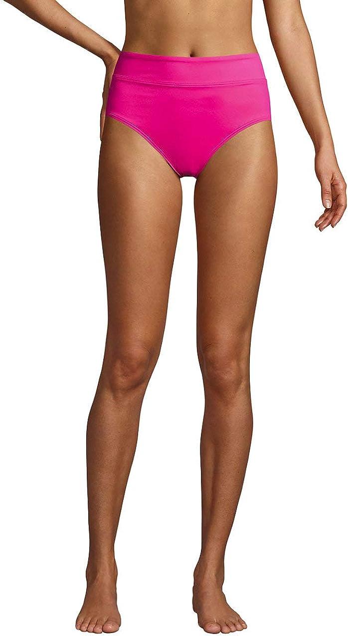 Ranking TOP7 Lands' End Women's Tummy Control Waisted High Bikini Bottoms Long Beach Mall