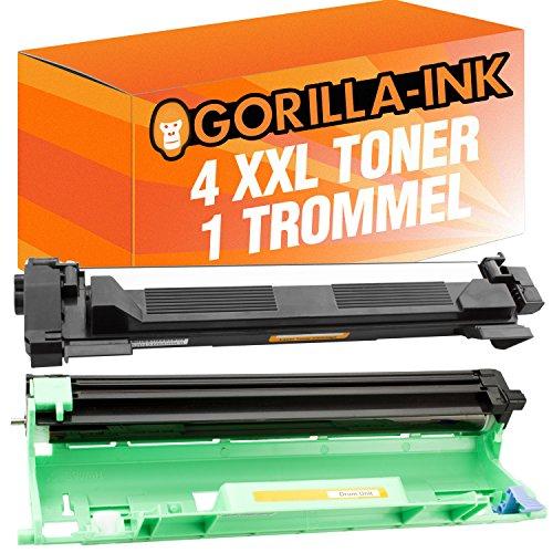 Gorilla de Ink® 4Toner & Drum XXL compatible con Brother DR de 1050HL-1112Series TN-1050MFC-1810mfc-1815MFC MFC-1910W MFC de 1911nw
