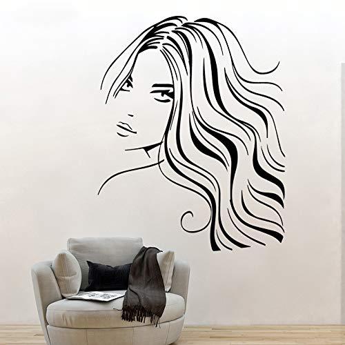 Tianpengyuanshuai mode schoonheid vrouw muurkunst applicatie muursticker PVC materiaal woonkamer achtergrond decoratie sieraden