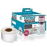 DYMO LW etiquetas industriales resistentes para LabelWriter impresoras de etiquetas, poli blanco, 19 mm x 64 mm, 2 rollos de 450 (1933085)