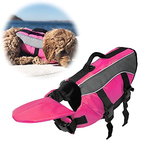 SILD Couleur Pet Life Jacket Taille réglable Chien Lifesaver Sécurité Gilet réfléchissant pour Animal Domestique Sauvetage Chien Saver Gilet de Sauvetage Manteau pour Natation Surf Bateau de Chasse(L)