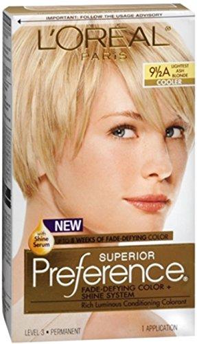 L'Oreal Superior Preference - 9-1/2A Lightest Ash Blonde (Cooler) 1 Each