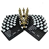 Golden Oscar Award Trophies and Movie Clapboard by Forest & Twelfth – 6 inch Replica Oscar Statues with Replica Movie Clapboard - Realistic Oscar Trophy Awards and Clapboard – 12 Award Trophies and 12 Clapboards