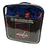 Washington Capitals Established 1974 NHL Stamp Design Raschel Plush 60x80 Twin Size Throw Blanket