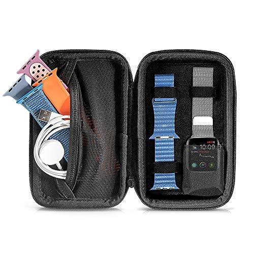 tomtoc Aufbewahrungsbox für Apple Watch iWatch Series 5 4 3 und 3 zusätzliche Bänder & Zubehör, tragbare Reise Tasche Schutzhülle kompatibel mit 40mm Fitbit Blaze | Huawei Smart Digital Uhr