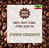 Coffee World | Ethiopia Yirgacheffe Single Origin UK Roasted Whole Coffee Beans - Perfect Brewing for Cafés, Businesses, Shops & Home Users (8 x 1KG Whole Bean)