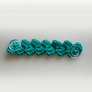 LUBSS Mask Extender Crochet Knitted with Buttons Ear Saver One Piece - 100% Handmade High Quality (Turquoise)