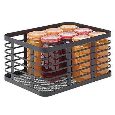 mDesign Metal Wire Food Organizer Storage Bin from