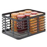 mDesign Caja multiusos de metal para toda la casa – Organizador de cocina,...