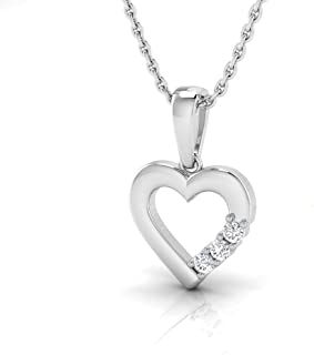 3//8 cttw, J-K, SI2-I1 KATARINA Prong Set Diamond and Floral Garnet Heart Pendant Necklace in Gold or Silver