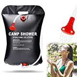 Aiooy Camping Shower Bag, Solar Shower Bag, Portable Shower Bag, 20L Portable Solar Heated Travel Shower for Traveling Beach Swimming Garden Hiking