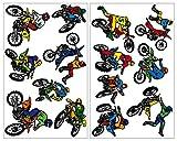 14 Juego de motocross pared adhesivo Juego Cross Moto Art-Land, multicolor, 2x 16x26cm